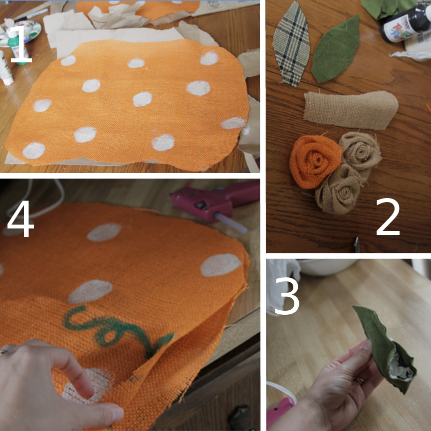 burlap pumpkin tutorial