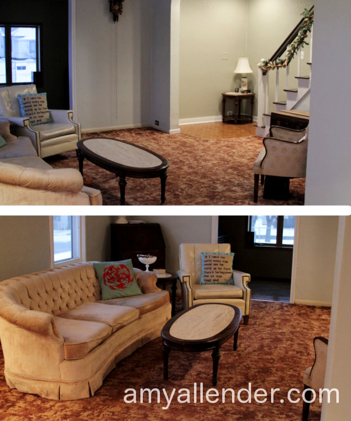 Remember when i used to have brown carpet amy allender - Brown carpet in living room ...