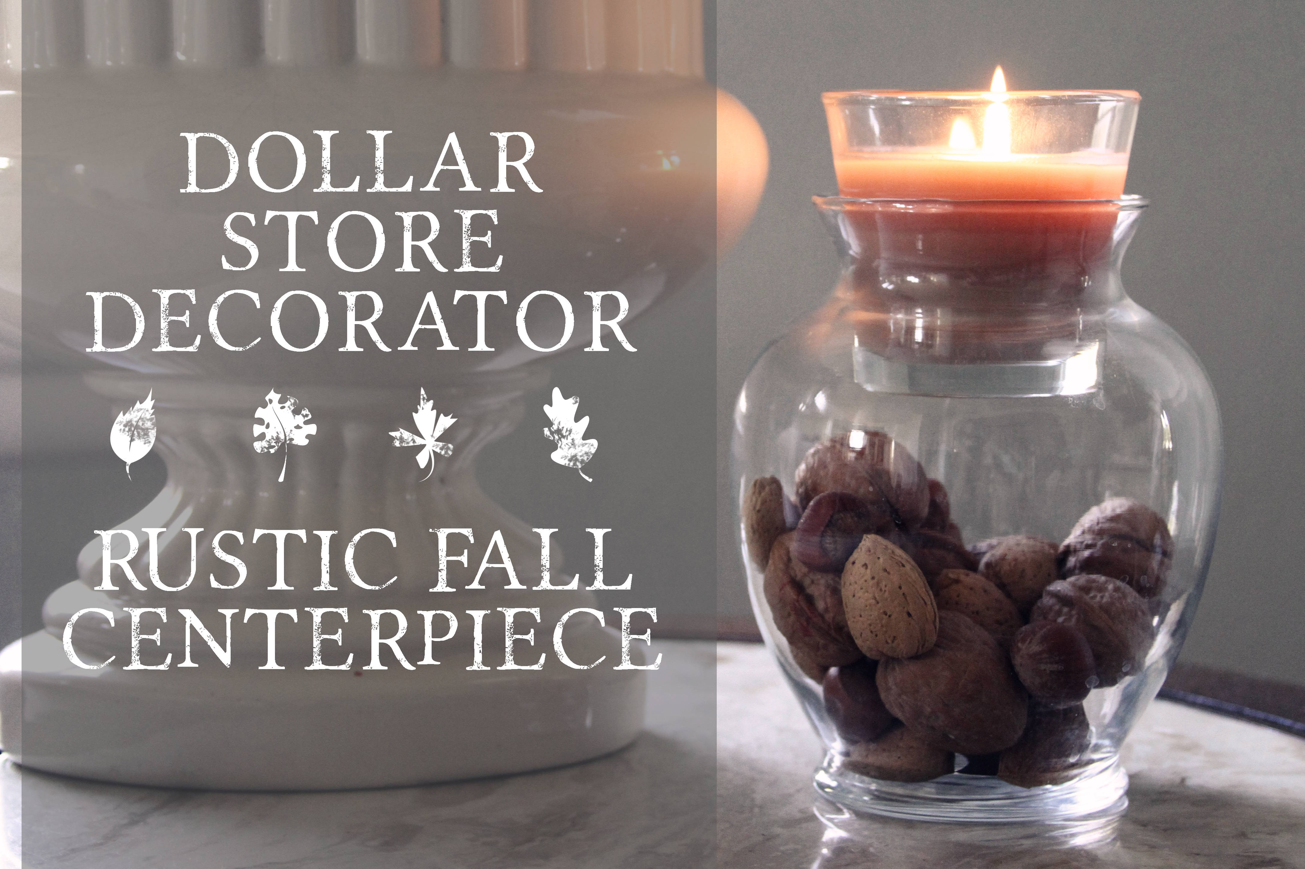 Simple Fall Wedding Centerpieces: Dollar Store Hack {fall Centerpiece}