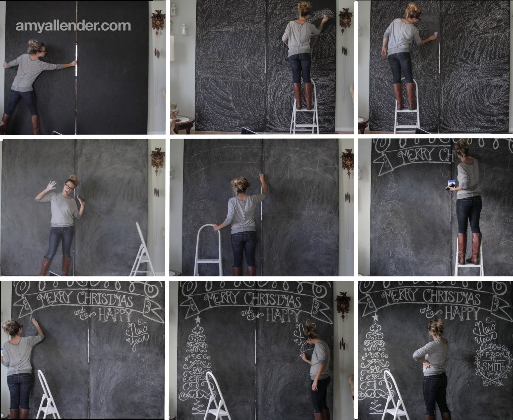 Making a Chalkboard Backdrop