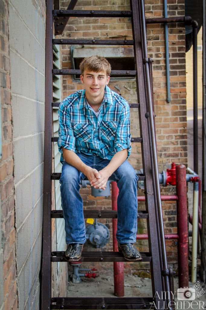 senior portraits fire escape