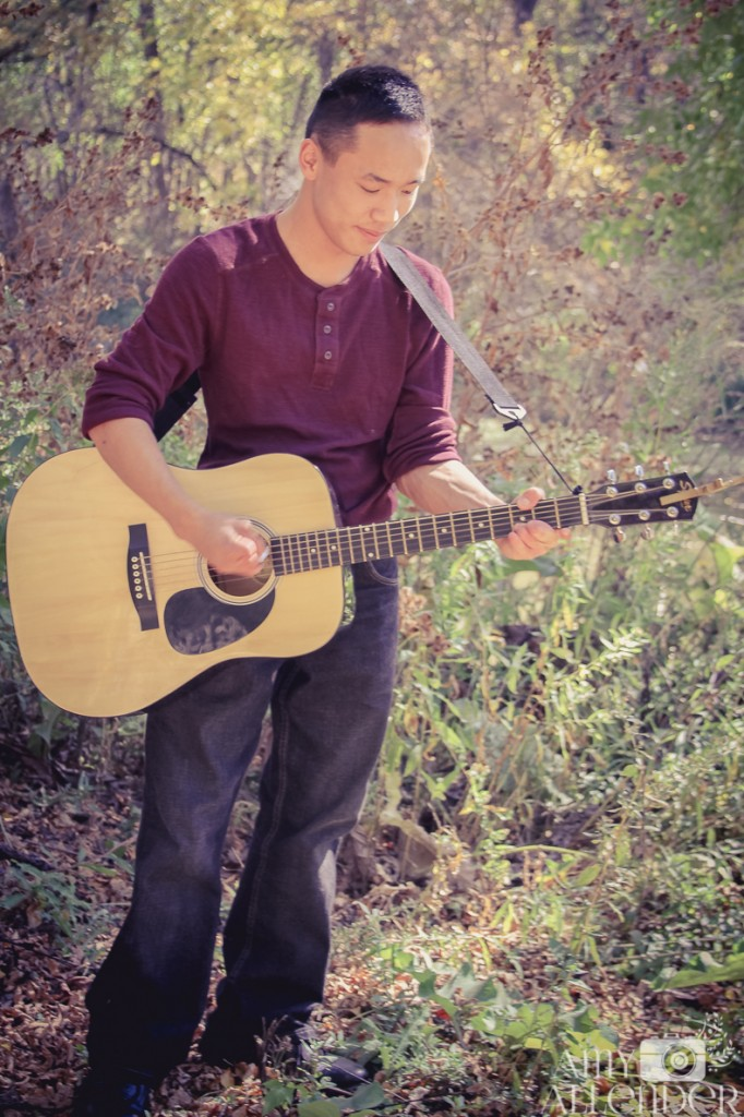 fall Senior portrait guitar