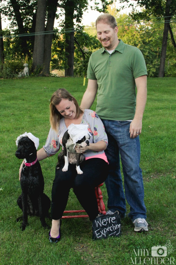 Baby Announcement With Dogs