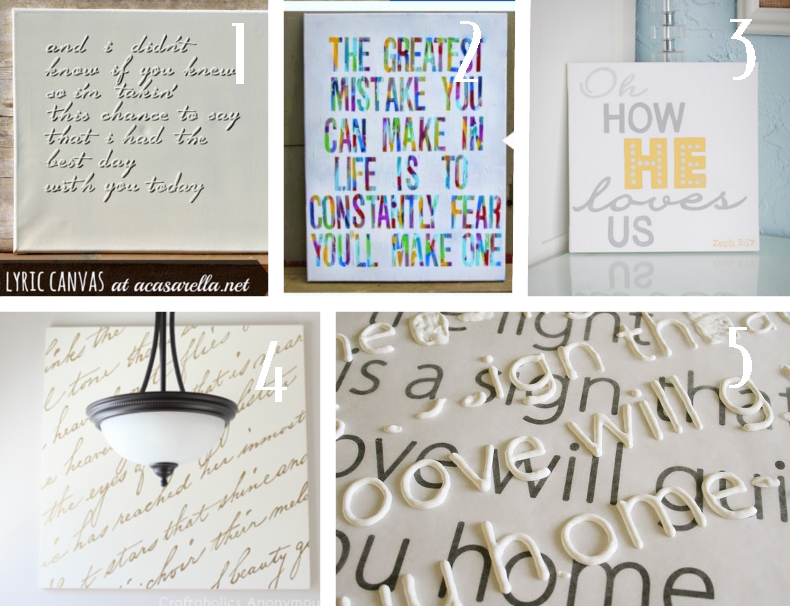 DIY canvas lettering