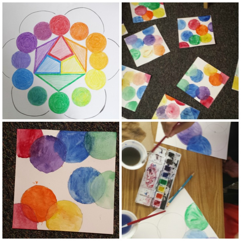 color wheel art project