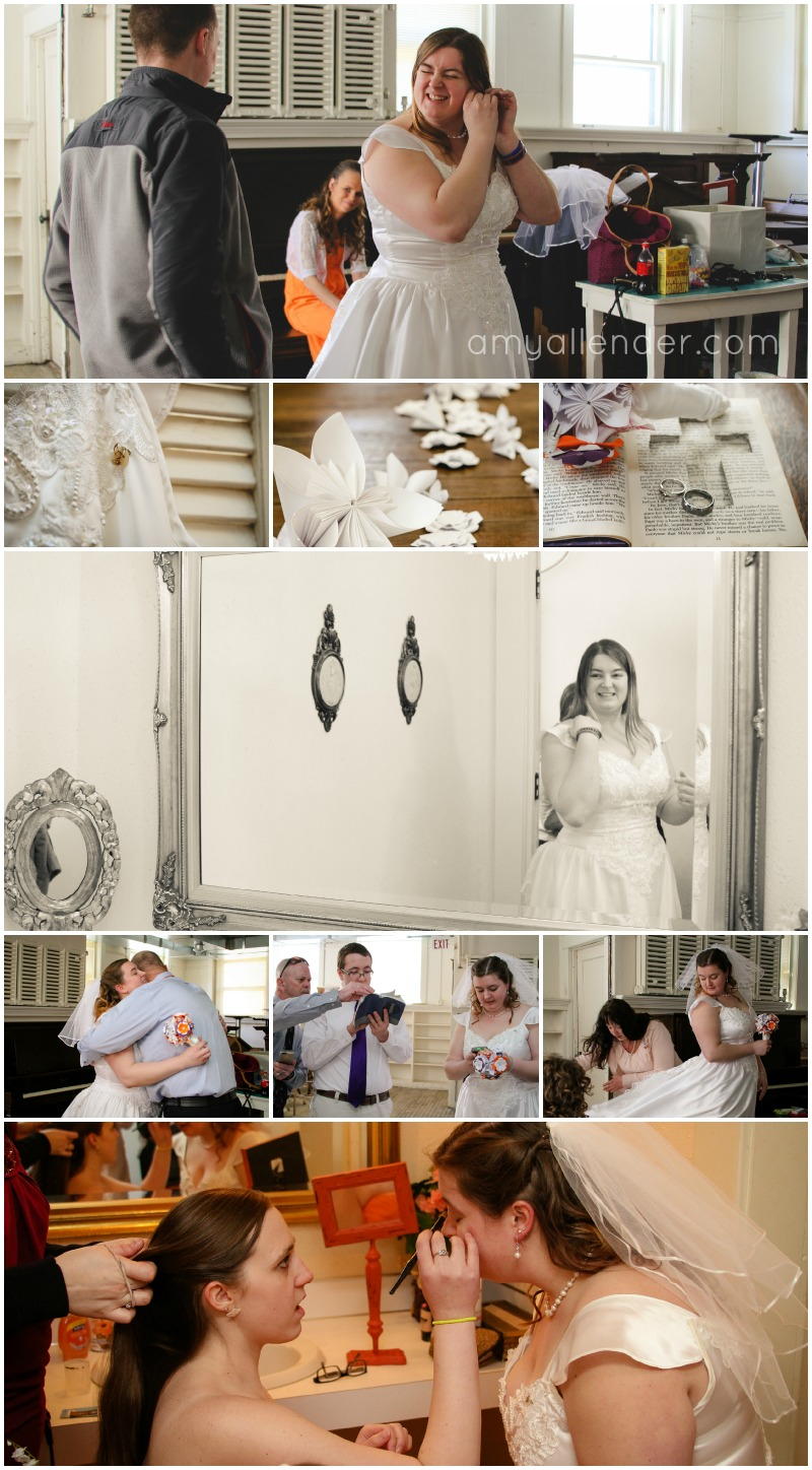 Wedding prep collage