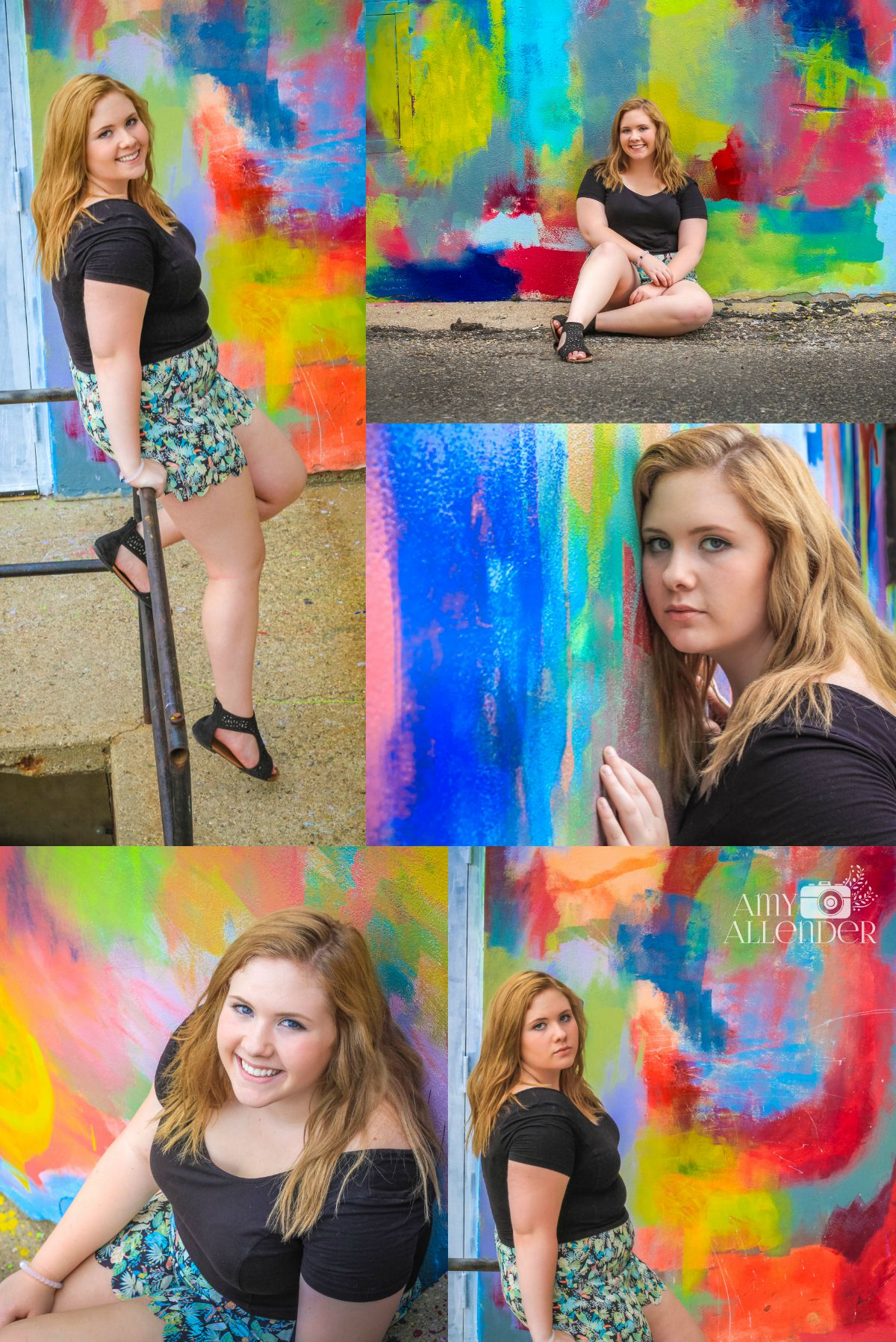 colorful senior photos
