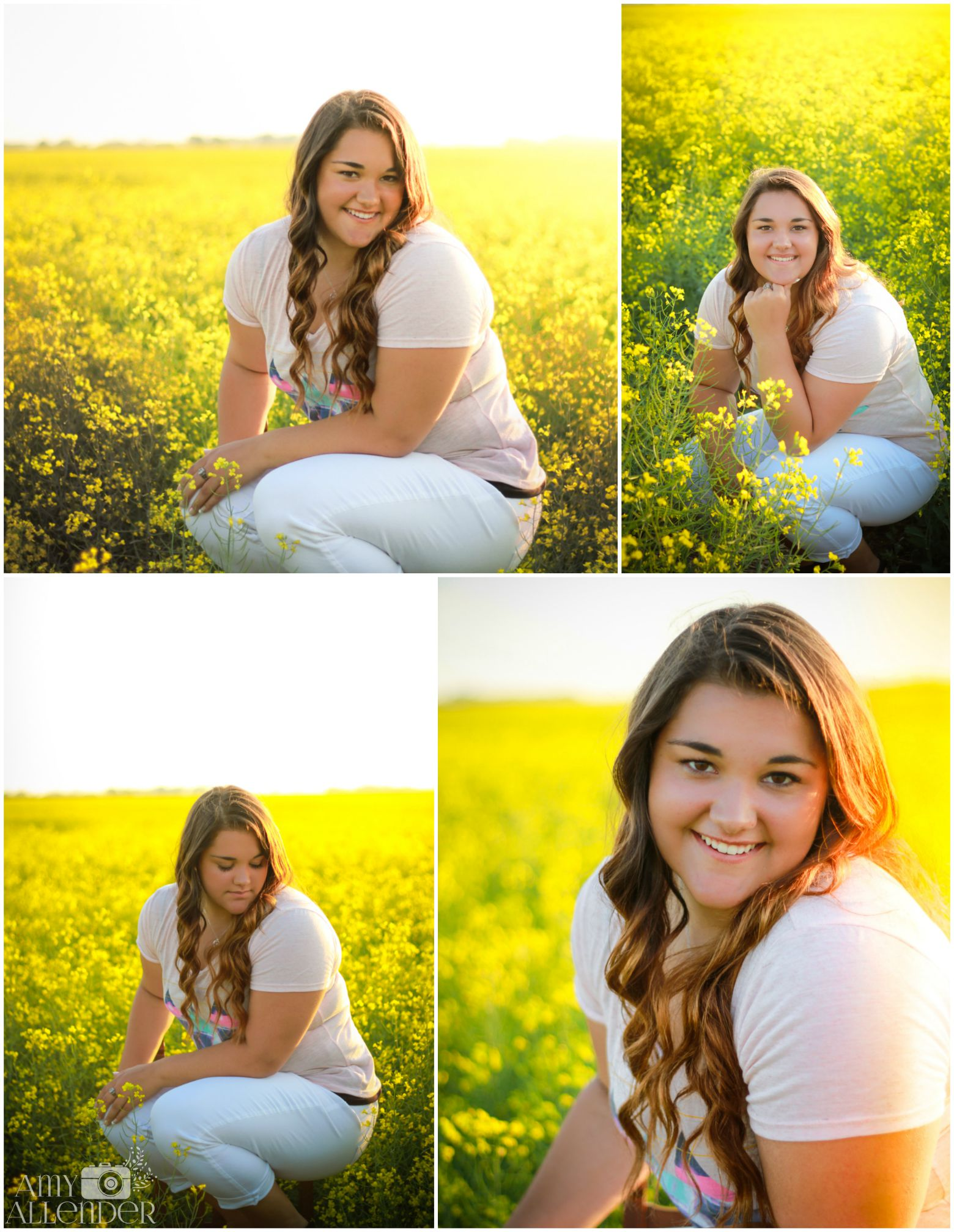 canola field senior pictures