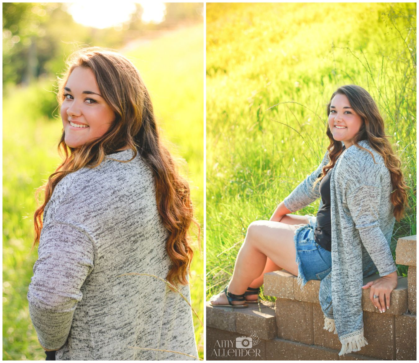 golden hour senior portraits