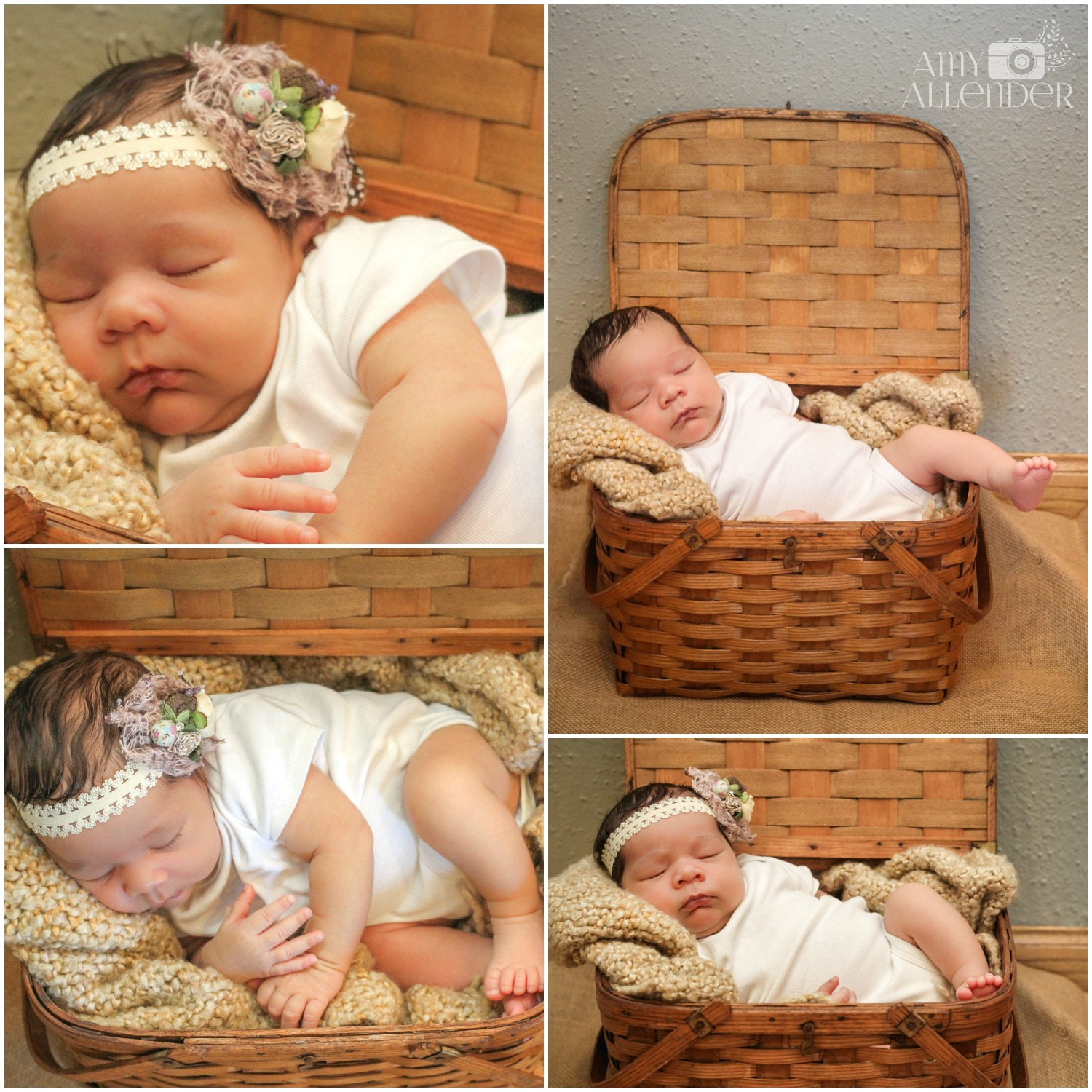 Vintage basket newborn photos