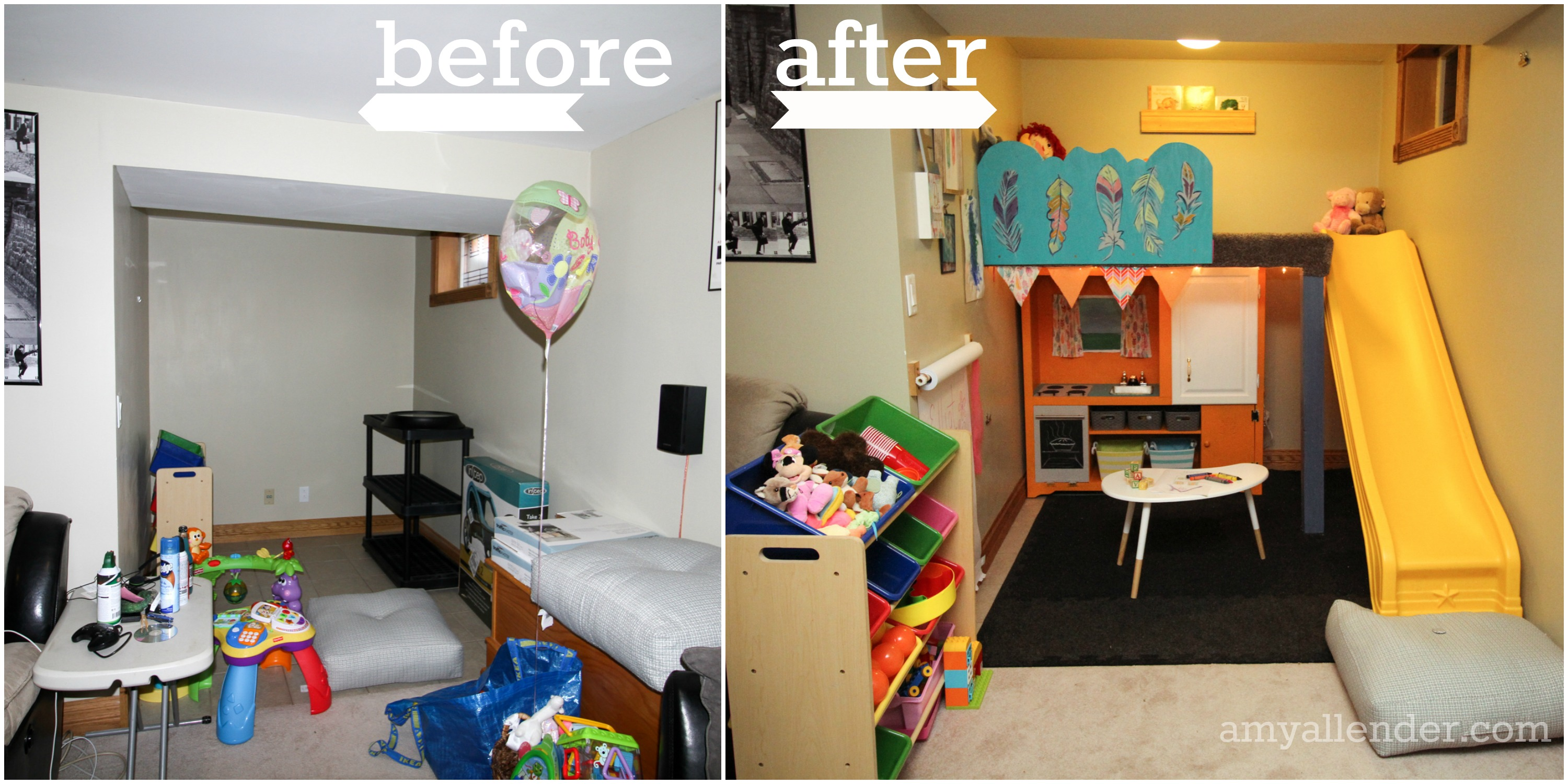 diy playroom before and after