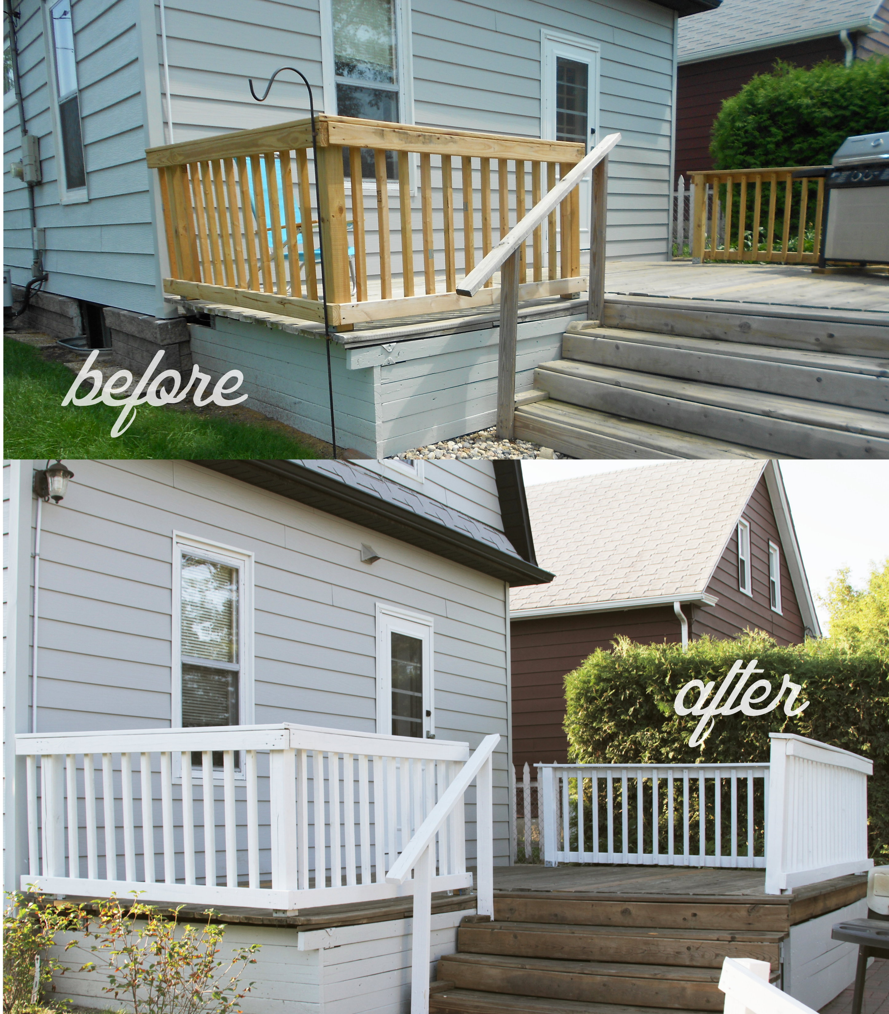Decking do over under 100 amy allender dot com for Painted deck pictures