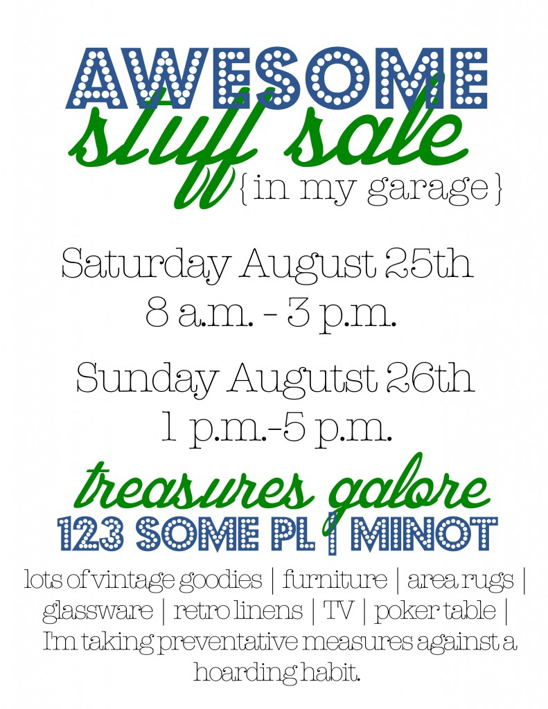 Garage Sale Tips Amp Flyers And How To Make A Big Image