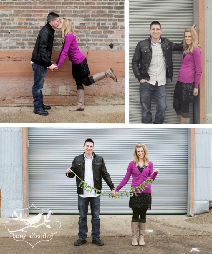 fun couples christmas portraits
