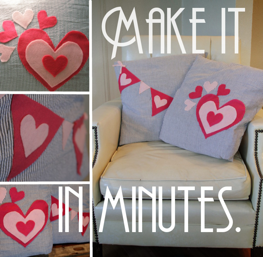 no sew valentines day pillow