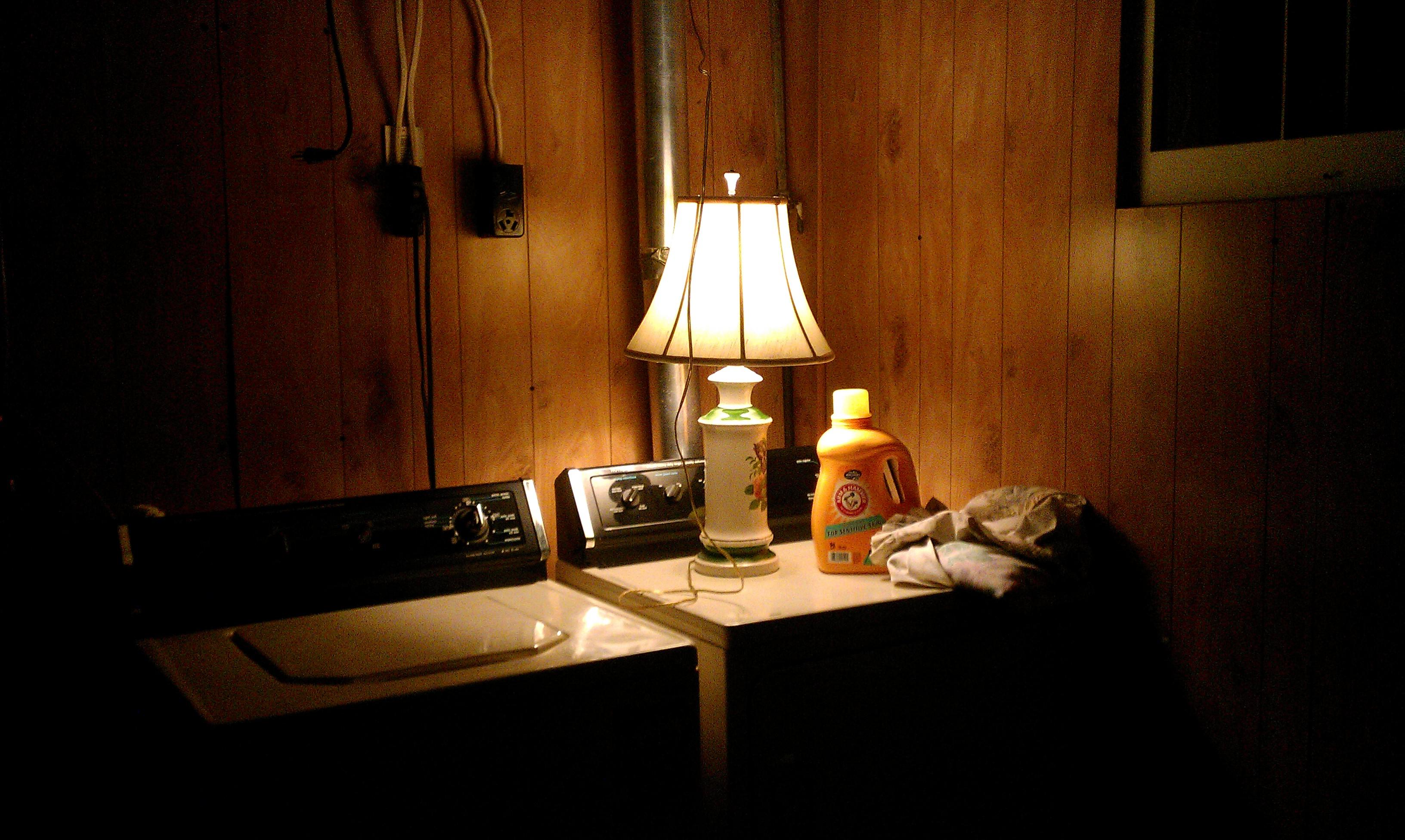 The Lamp On The Dryer Hope In The Basement Amy Allender Dot Com - Basement light fixture