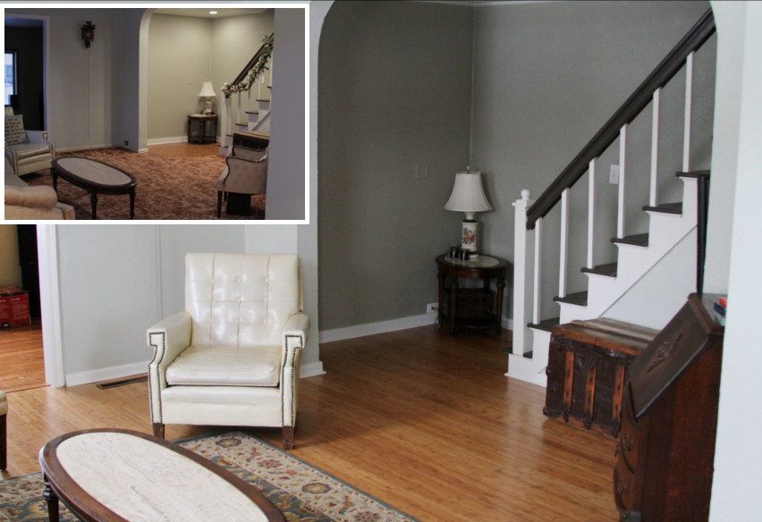 before and after living rooms bamboo flooring reveal allender dot 18143
