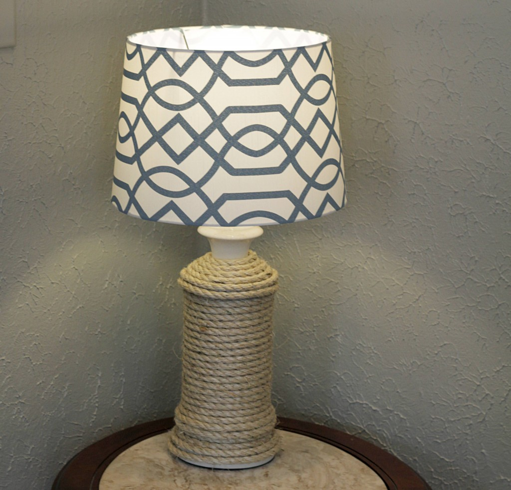 DIY Rope Lamp Base