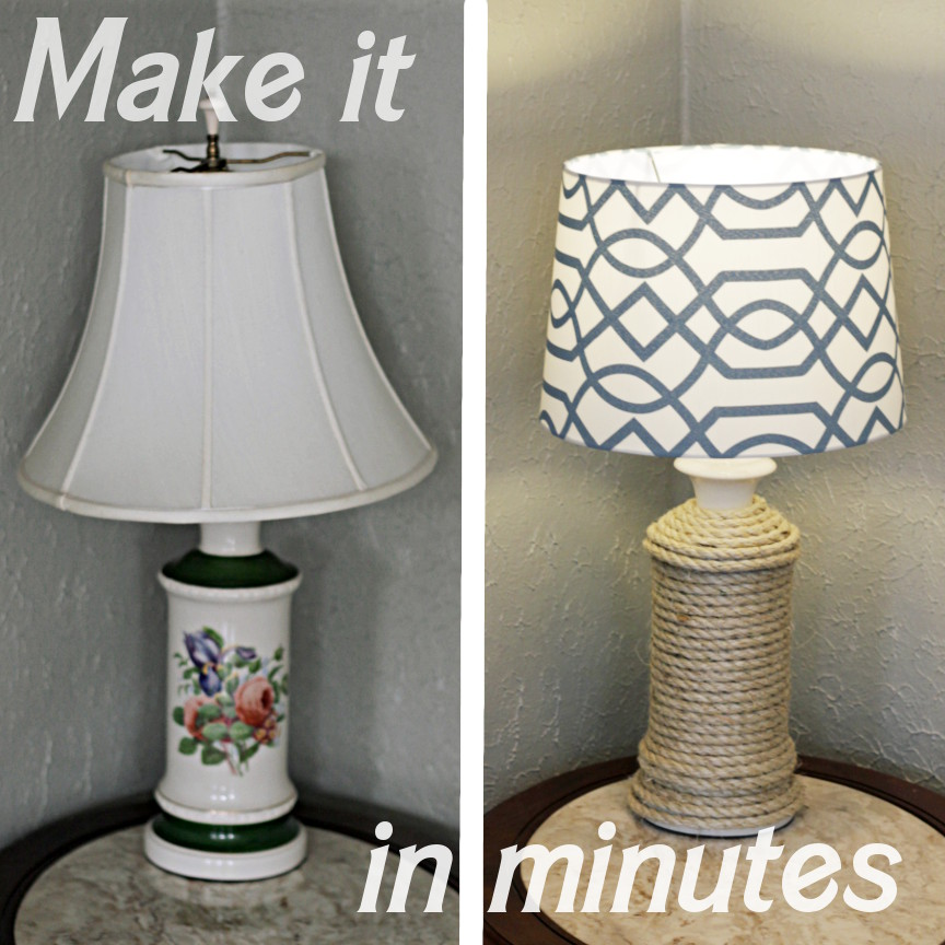 Nautical Decorating Ideas Home Part - 49: DIY Lamp Make Over