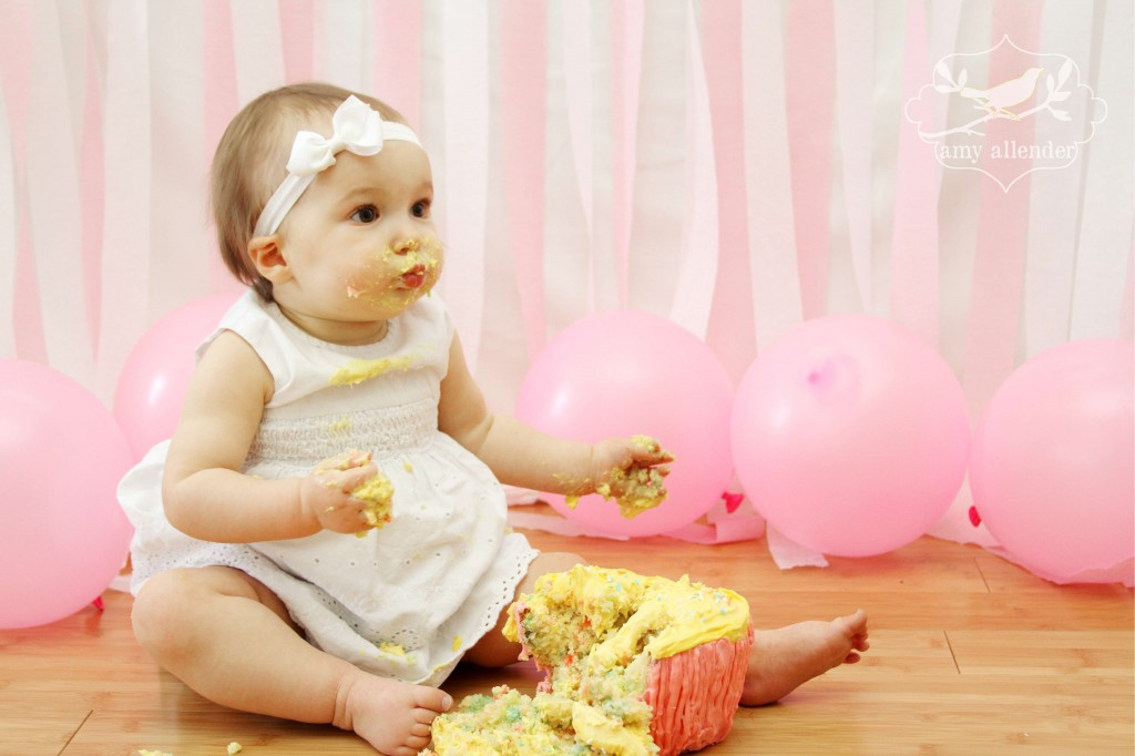 Smash Annabelle S First Birthday Amy Allender Dot Com