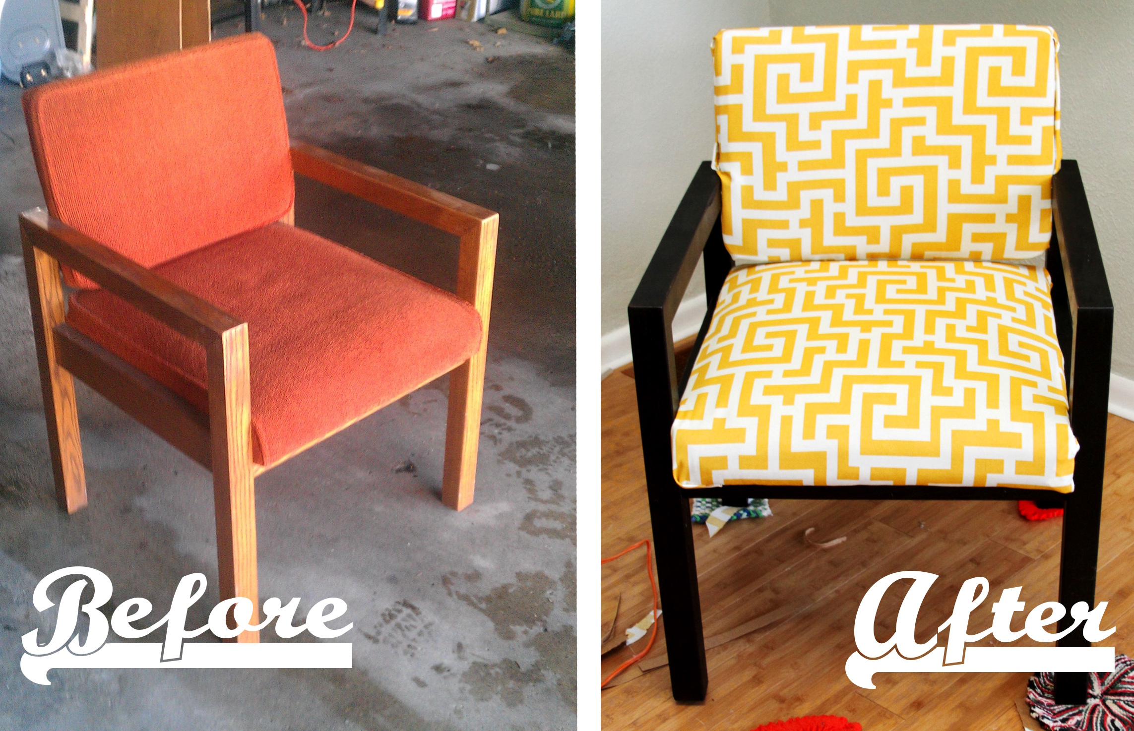 Charmant Before And After Chair