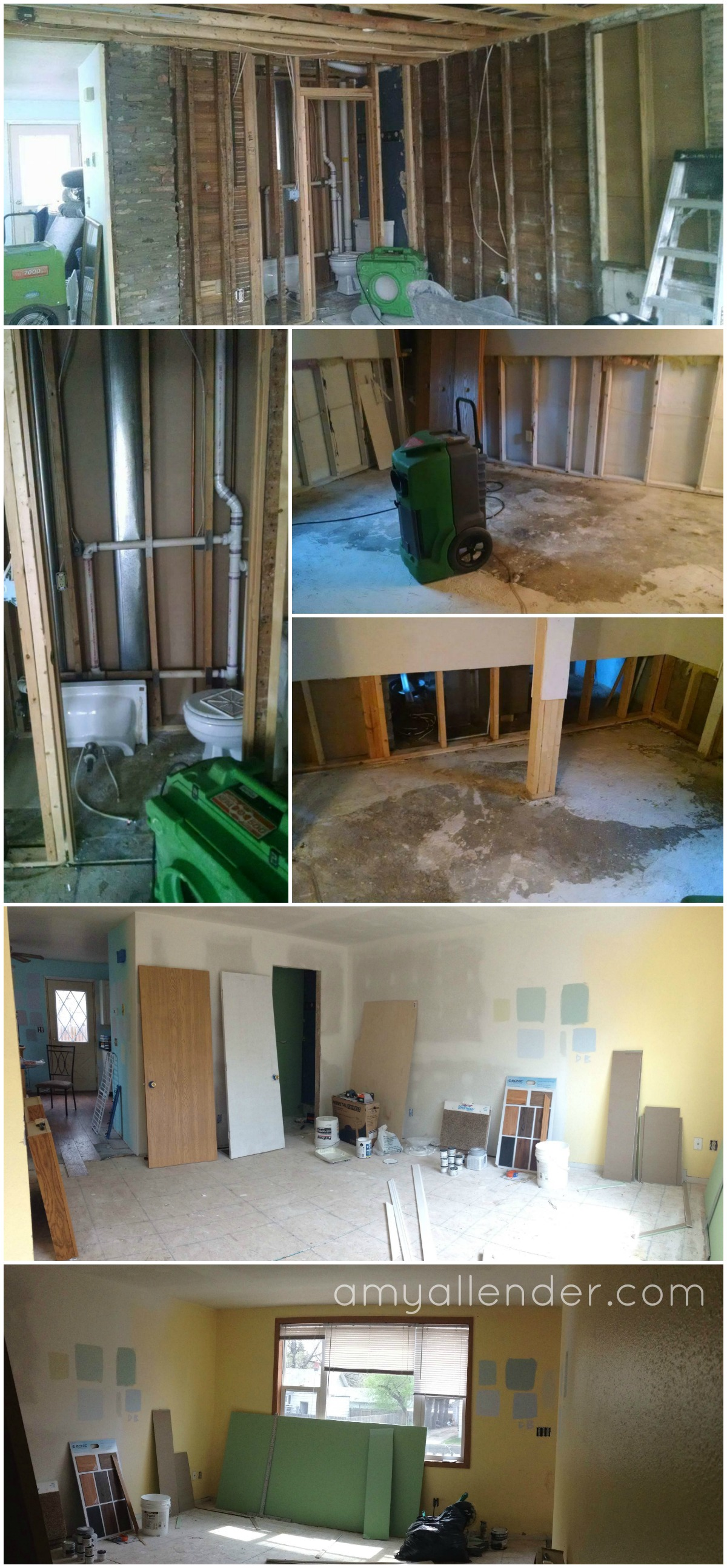 flooded house before