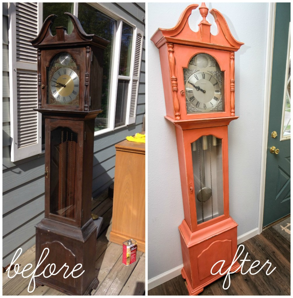 clock before and after