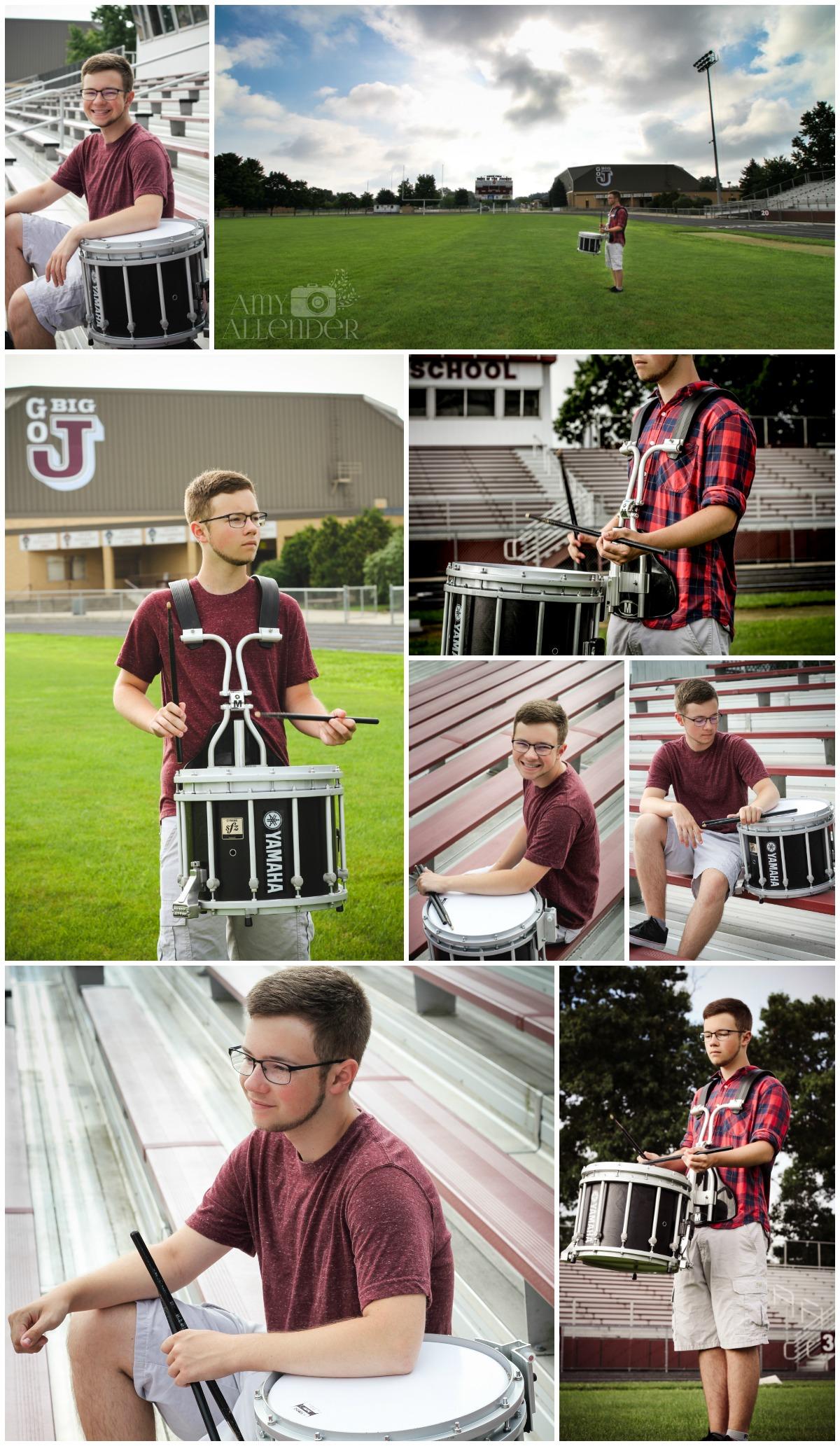 drumline senior photos