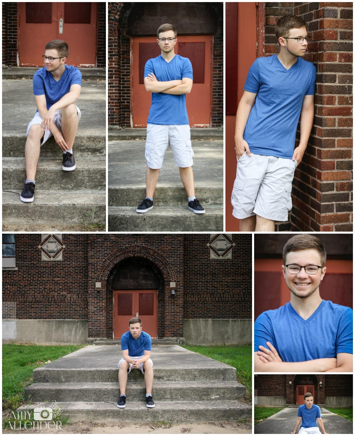 boy senior poses