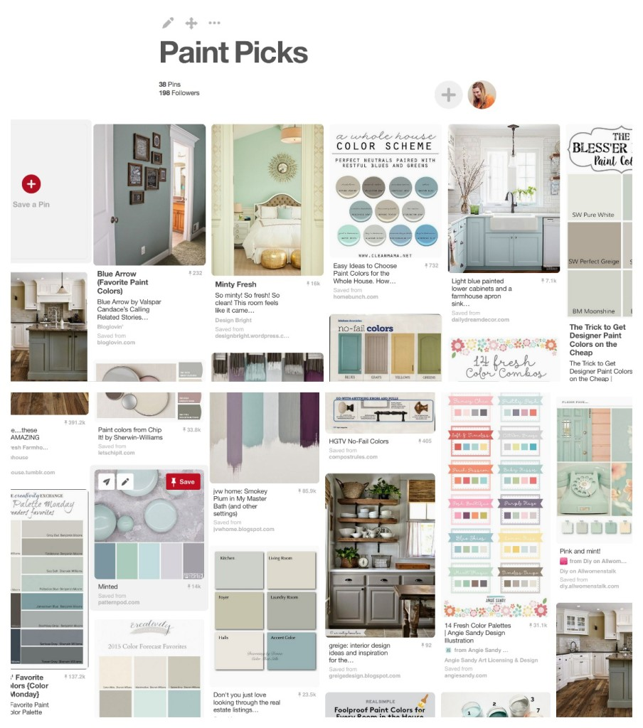 how to pick paint colors inpiration board