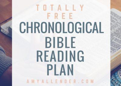 Printable Chronological Bible Reading Plan – Printable and Folds into a Bookmark