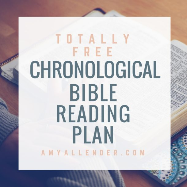free printable chronological bible reading plan